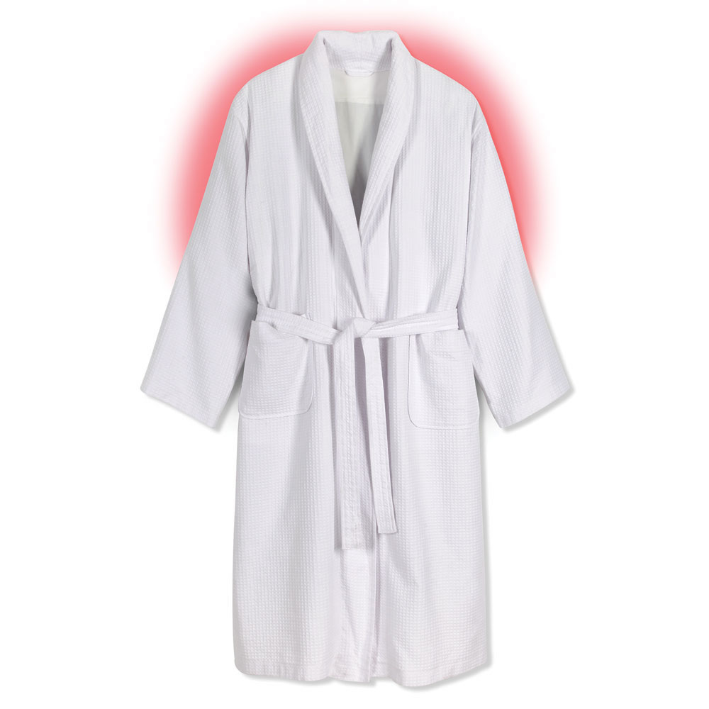 The Heated Cotton Robe Hammacher Schlemmer