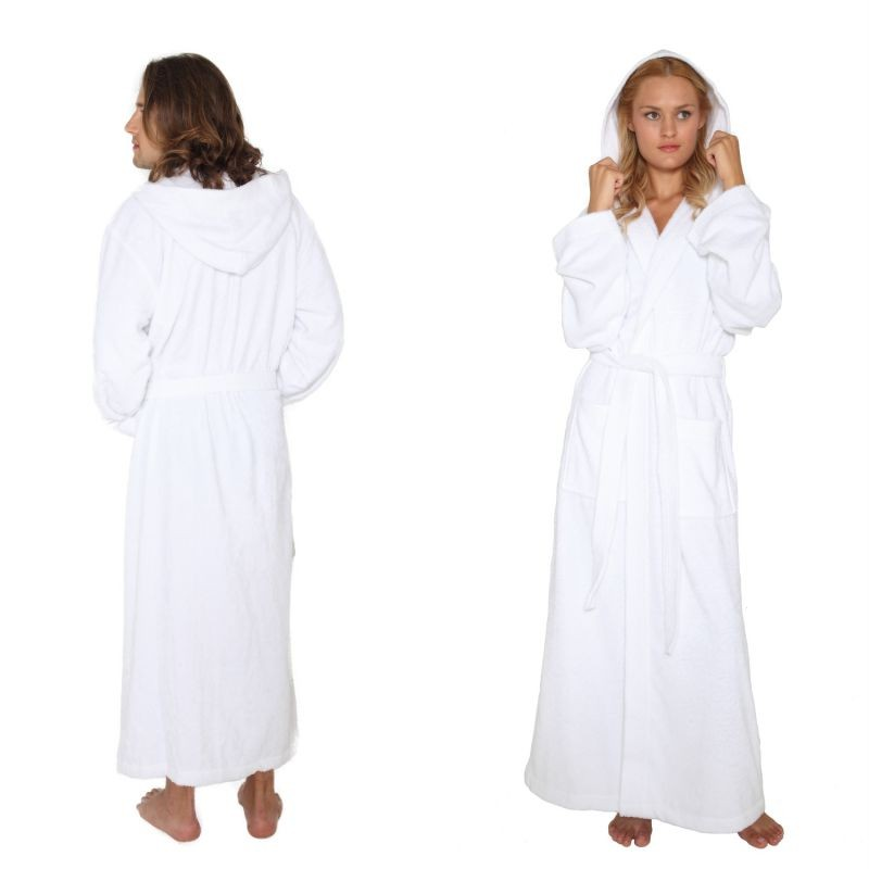 ... Bathrobe-Mens-Womens-Turkish-Cotton-Terry-Long-Full-Ankle-Length-Robe
