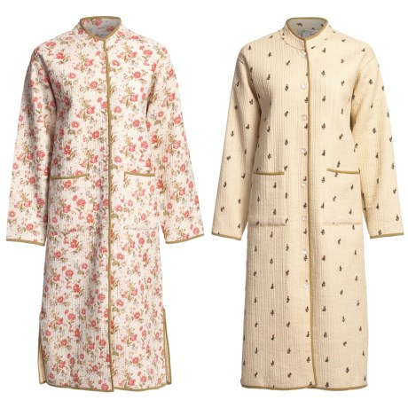 Review of Orvis Cotton Quilted Robe - Cotton, Reversible (For Women ...