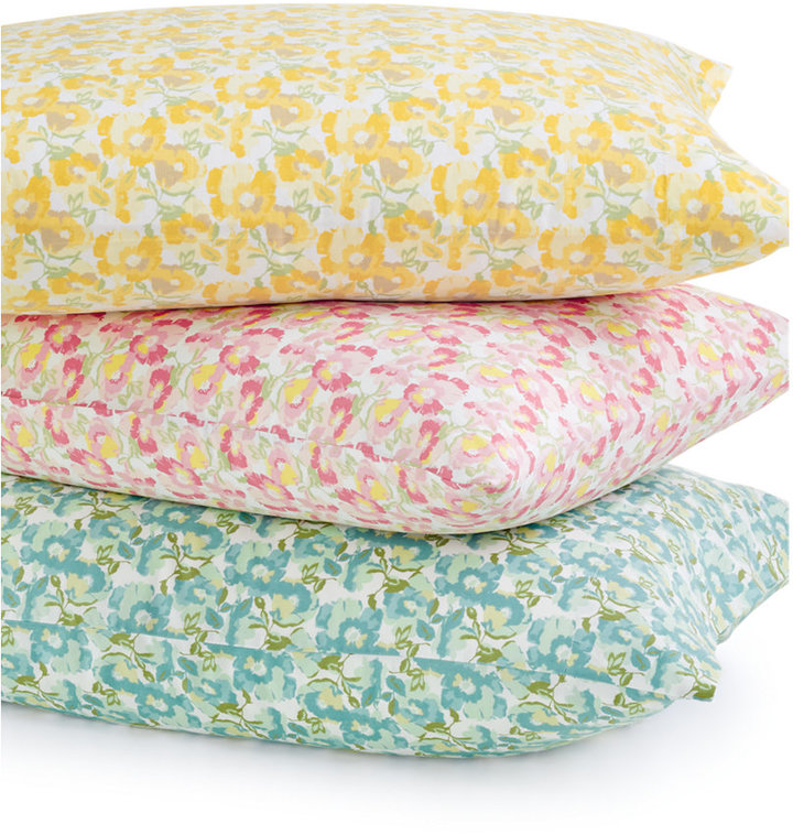 Collection Wild Blossoms King 4-pc Sheet Set, 300 Thread Count Cotton ...