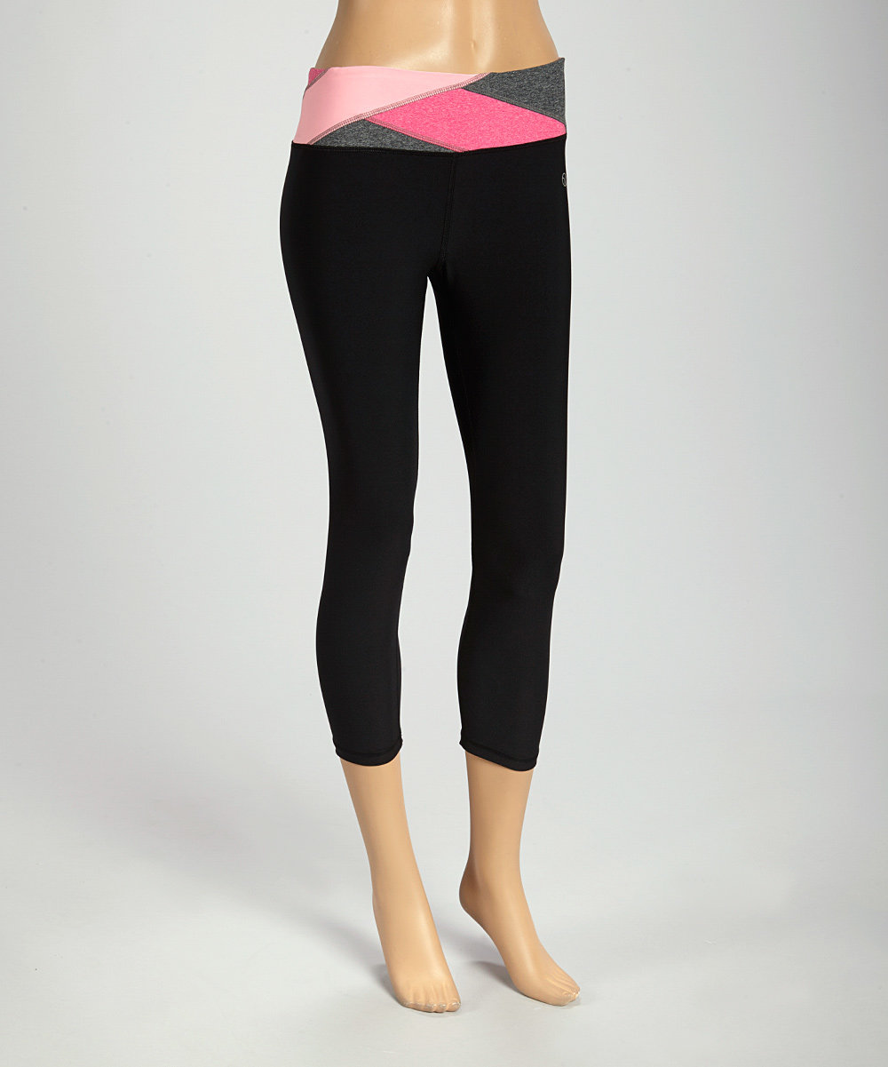 VOGO Black & Cotton Candy Yoga Pants | zulily