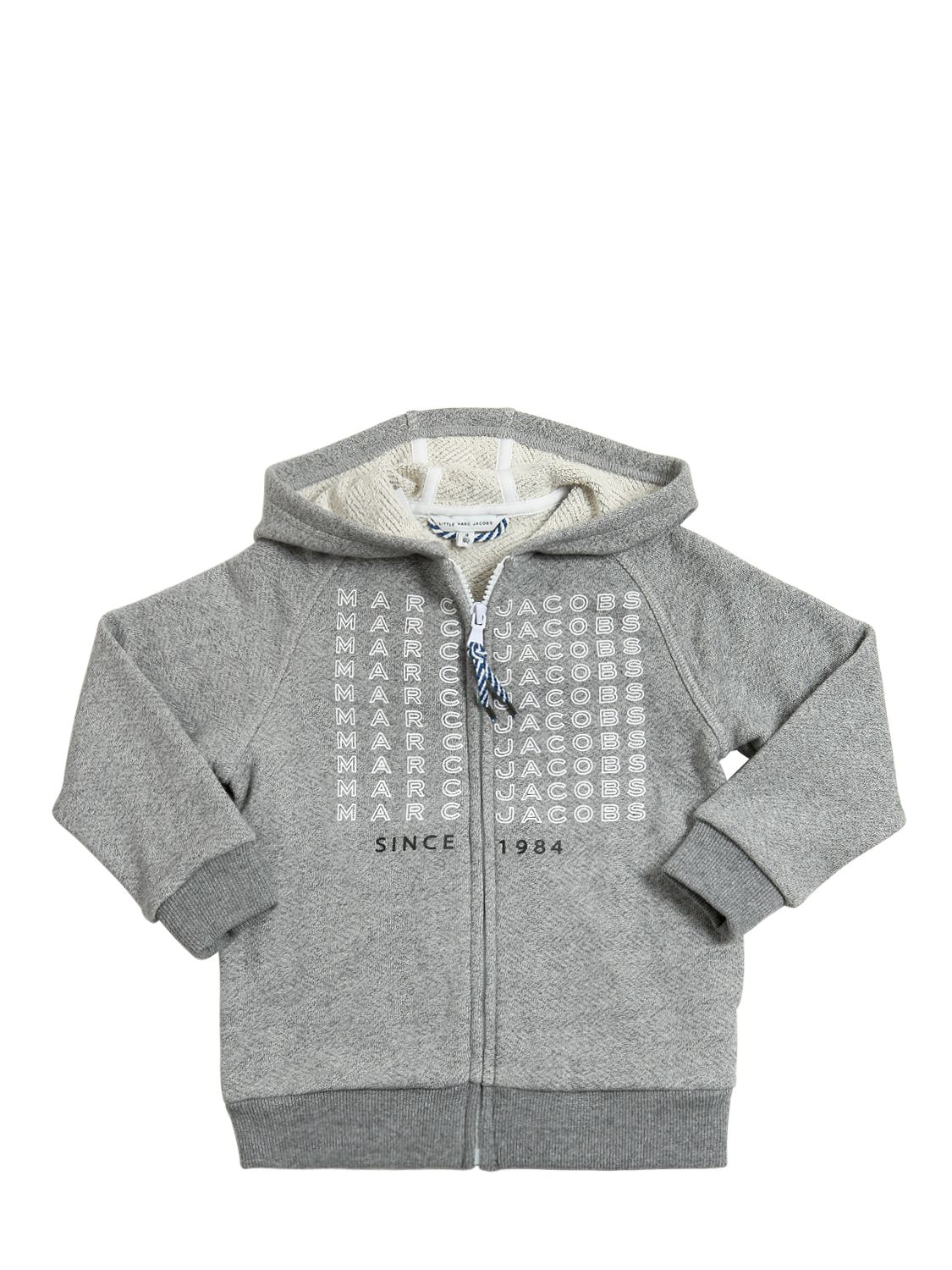 ... JACOBS | HOODED PRINTED COTTON ZIP UP SWEATSHIRT | Shoppingscanner