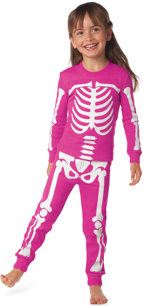Glow-in-the-Dark Skeleton Pajamas for Kids are Frighteningly Cute (NY ...