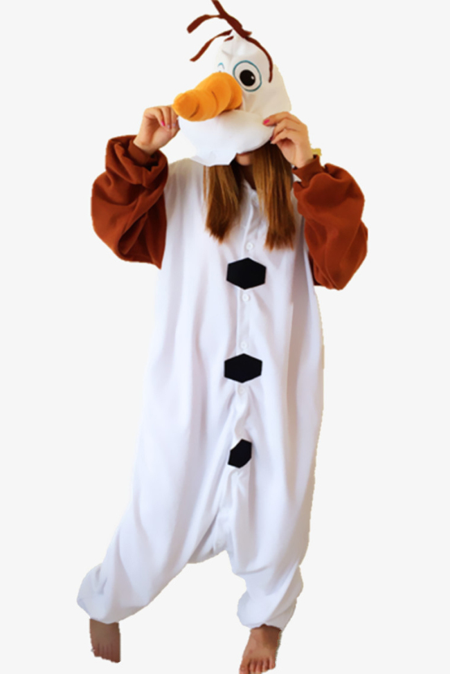 Frozen Olaf Onesie kigurumi Pajama For Adult and Kids