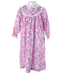Bellepointe Girl's Pink Heart Classic Granny Pajamas - 10041944 ...