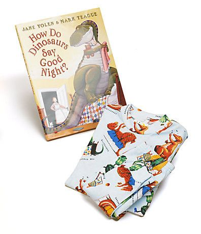 How Do Dinosaurs Say Goodnight Book and Pajamas Set
