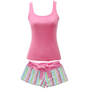 PINK Womens Pajama Set Tank Top Shirt & Shorts Adult Medium ...