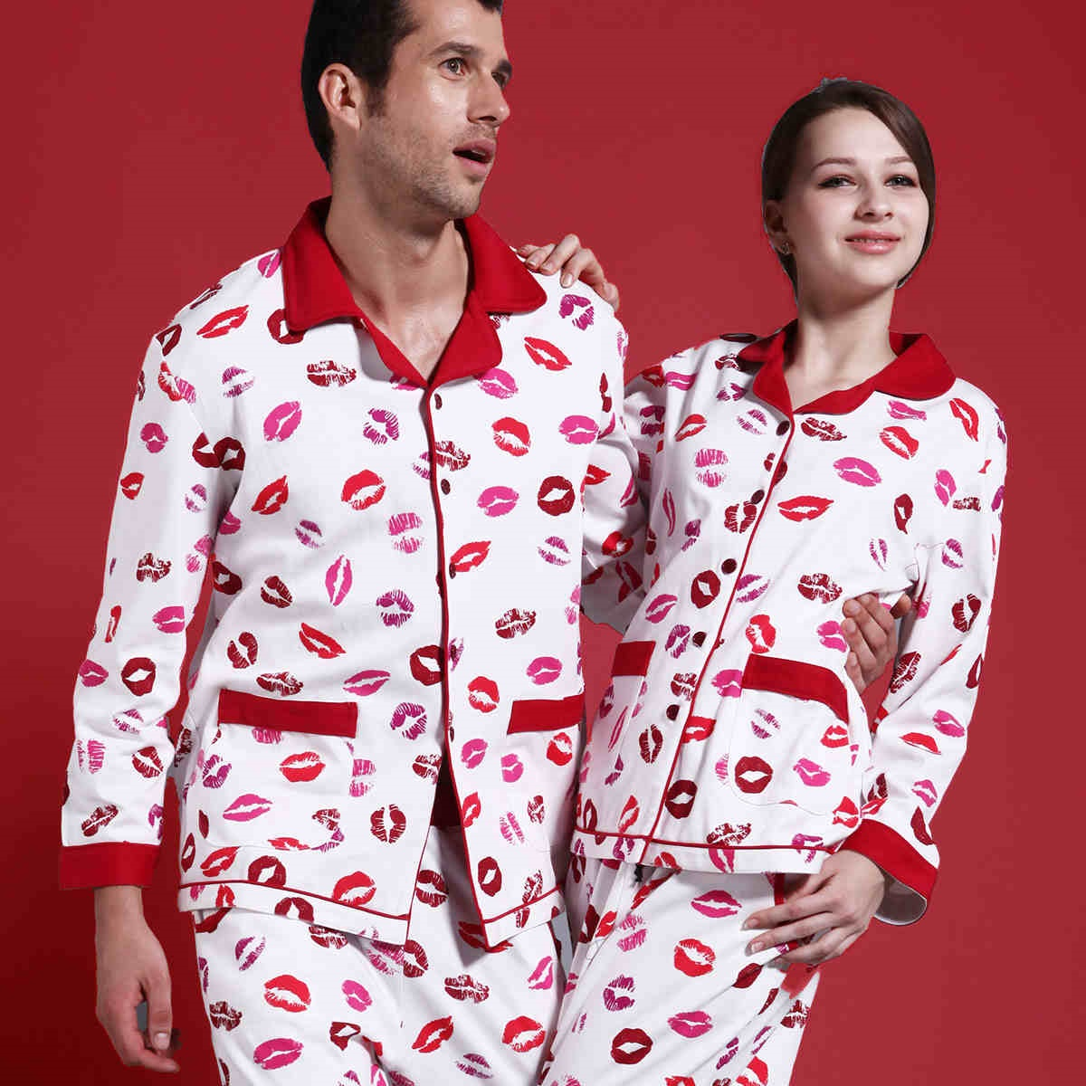 Couple Pajamas, His and Hers Pajamas, Matching sleepwear, His and Hers ...