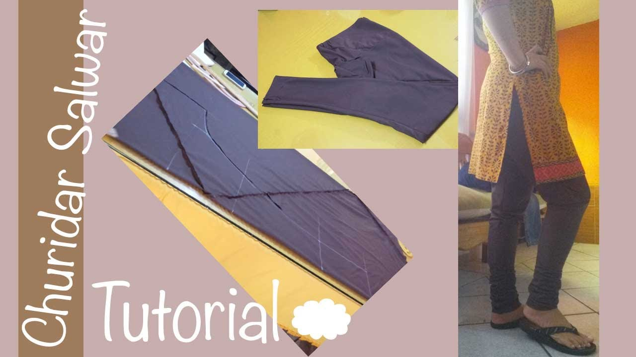 How to make a perfect Churidar Salwar ?bias cutting / Aadaa Pajama ...