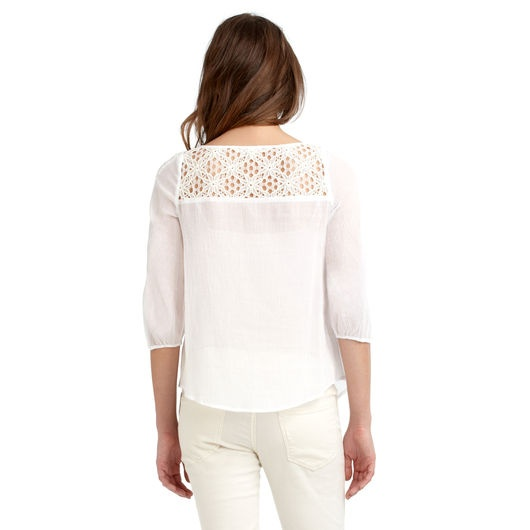 Cotton gauze 3/4 sleeve top. | Things to Wear | Pinterest