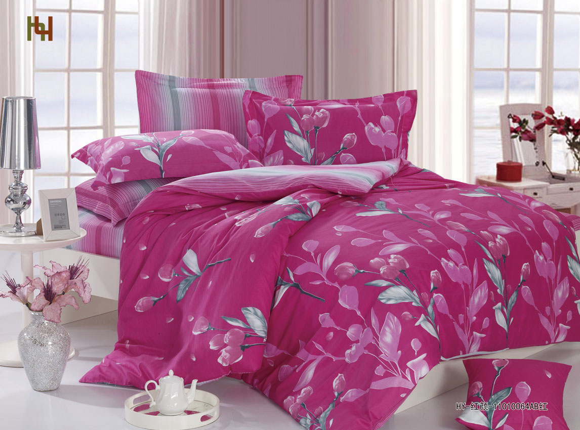 China Cotton Bed Sheet (HY03) - China Cotton Bed Linen, Bedding Set
