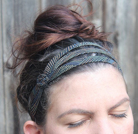 Womens headband cotton headband dot headband by jahannamartinez