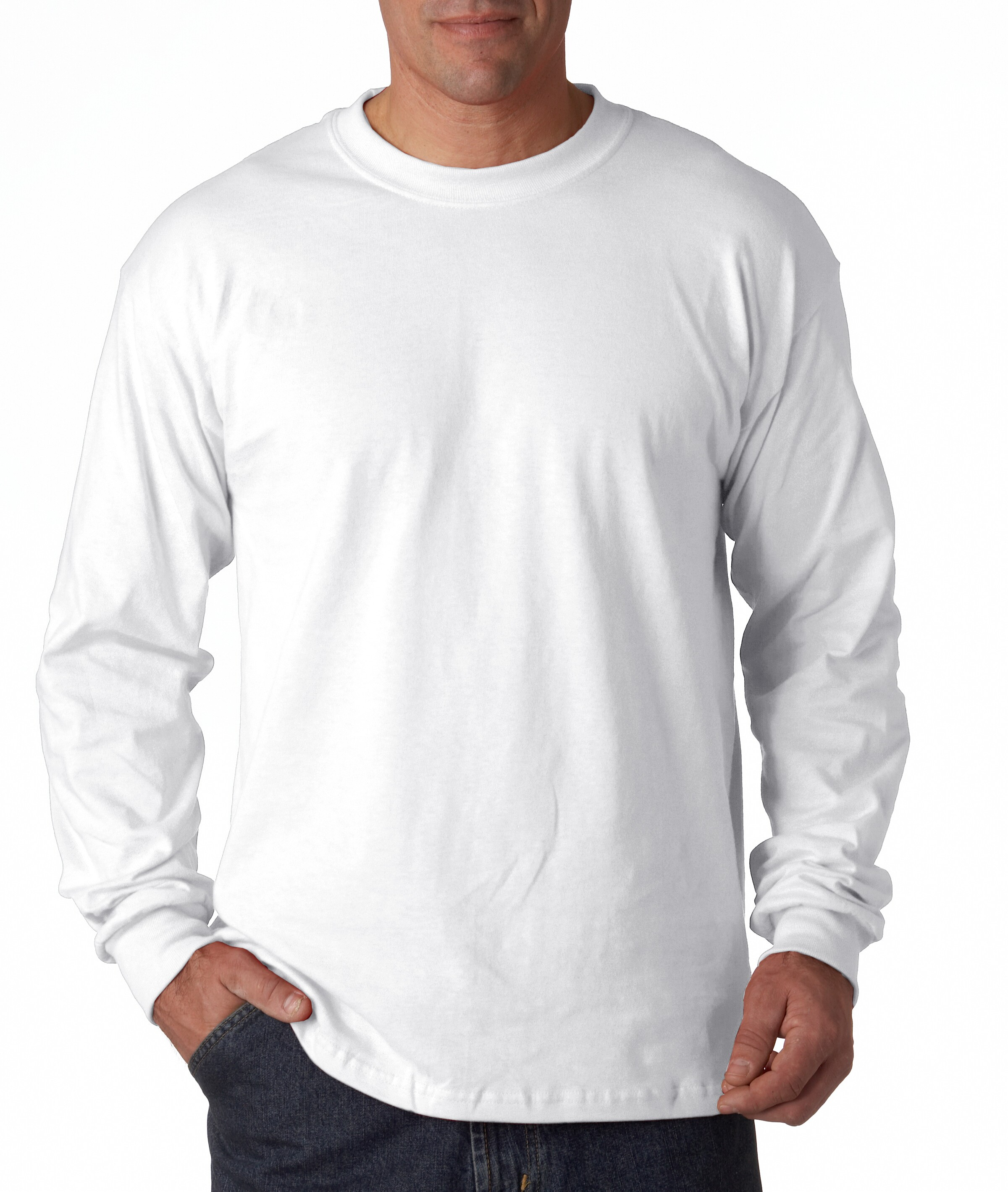 Gildan-Men-039-s-5-3-oz-034-Heavy-Cotton-034-Long-Sleeve-T-Shirt-5400