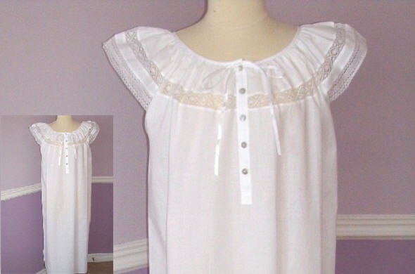 Cotton Nightgown & Housecoat